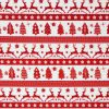 Scandi red Christmas fabric.