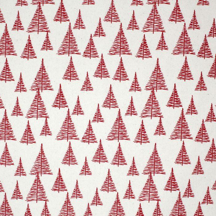 Red Christmas tree fabric.