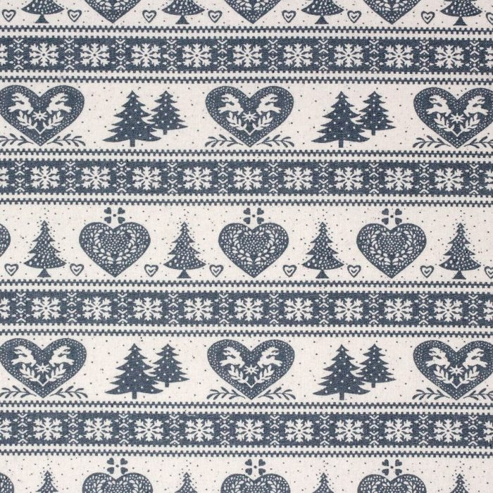 Christmas trees and hearts with a Scandi look in grey.