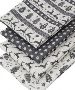 Scandi Christmas fabrics in grey.