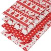 Scandi Christmas fat quarter in red.