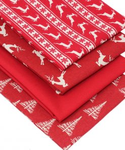 Red Scandi Christmas fabrics.