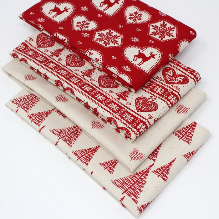 red Scandi Christmas fabrics