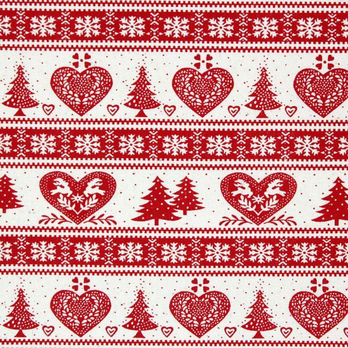 Scandi red festive Christmas stripe