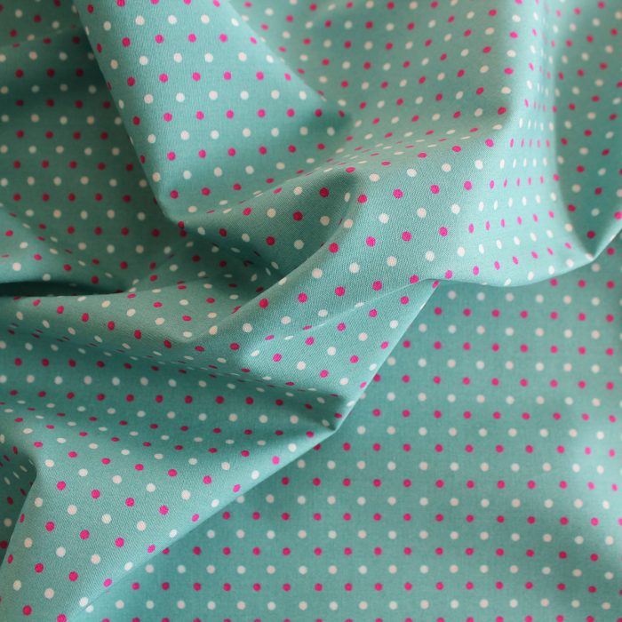 aqua blue fabric