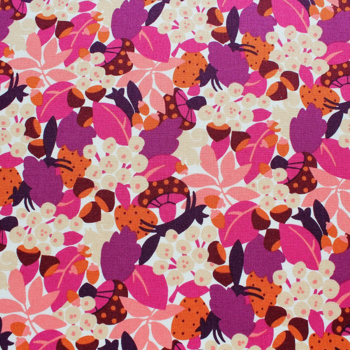 forst fabric - pink and purple