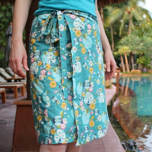 wrap skirt made from sewing kit