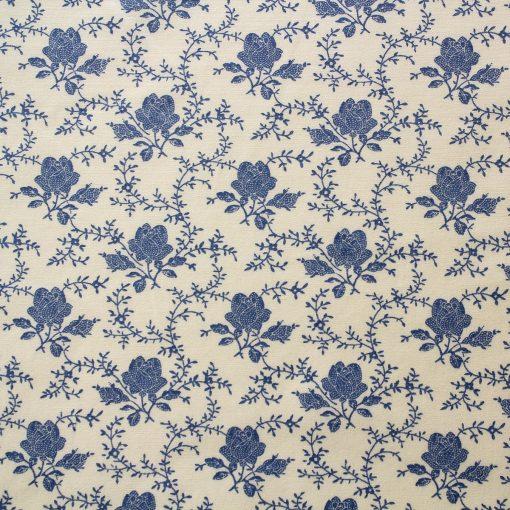 blue rose fabric