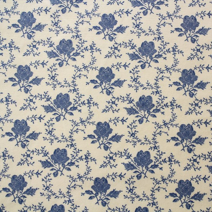 blue rose fabric