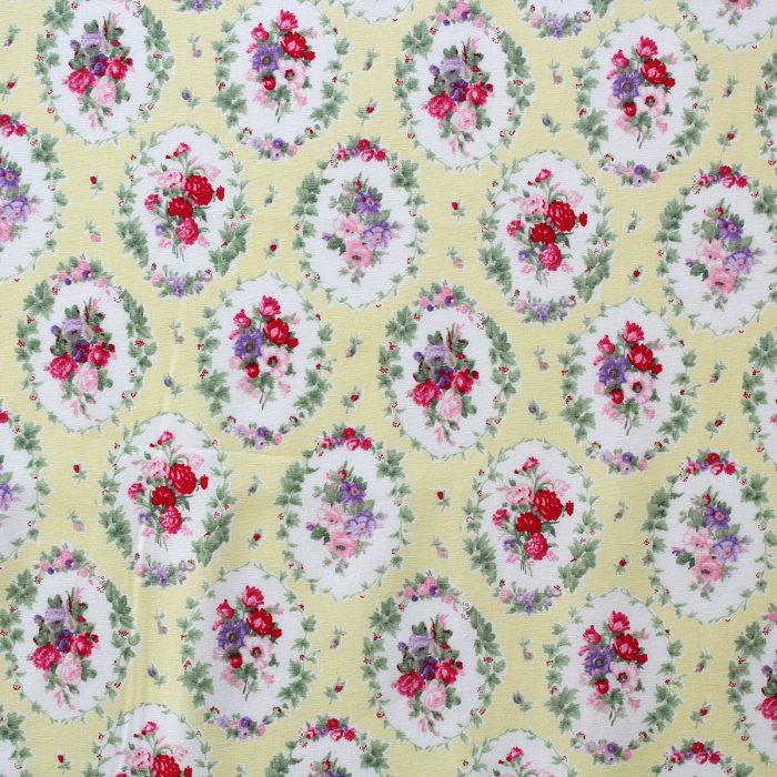 fabric with a rose detail