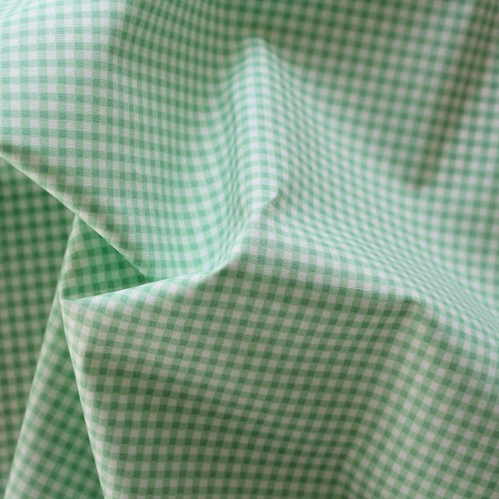 mint green gingham fabric