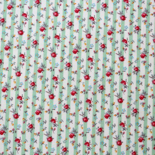 mint green stripe fabric