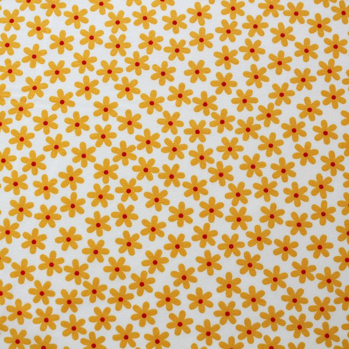 yellow daisy fabric