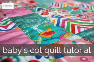 baby's cot quilt tutorial main image