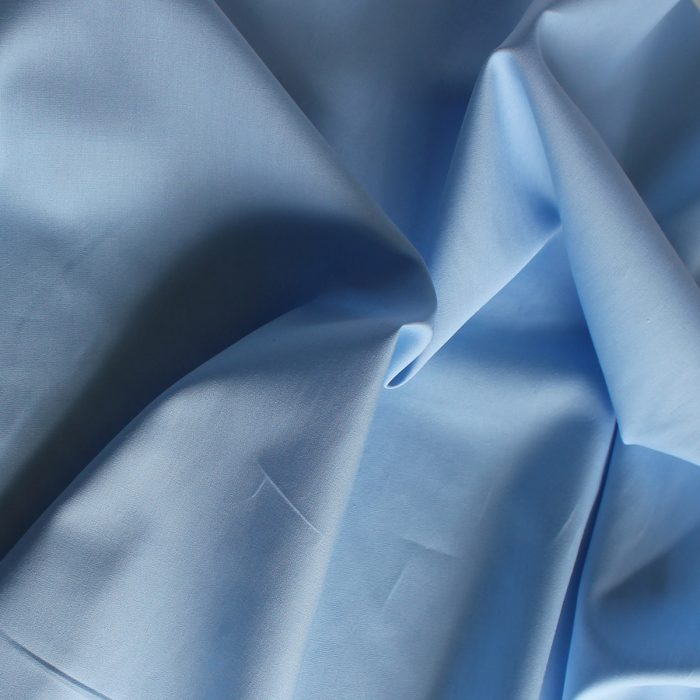 Candy blue plain fabric.