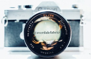 Vintage camera for Overdale Fabrics Instagram account.