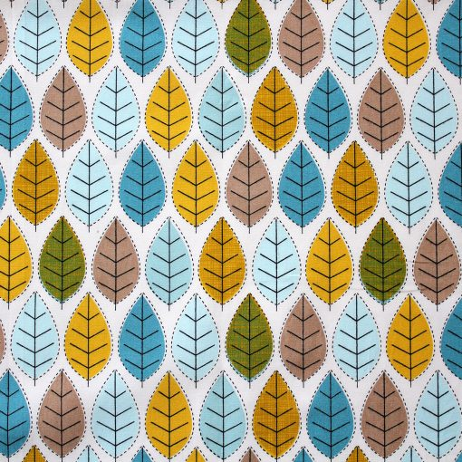stitched leaf - autumn