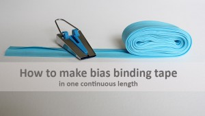Learn how to make bias binding tape.