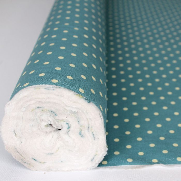 aqua blue spot cotton canvas fabric