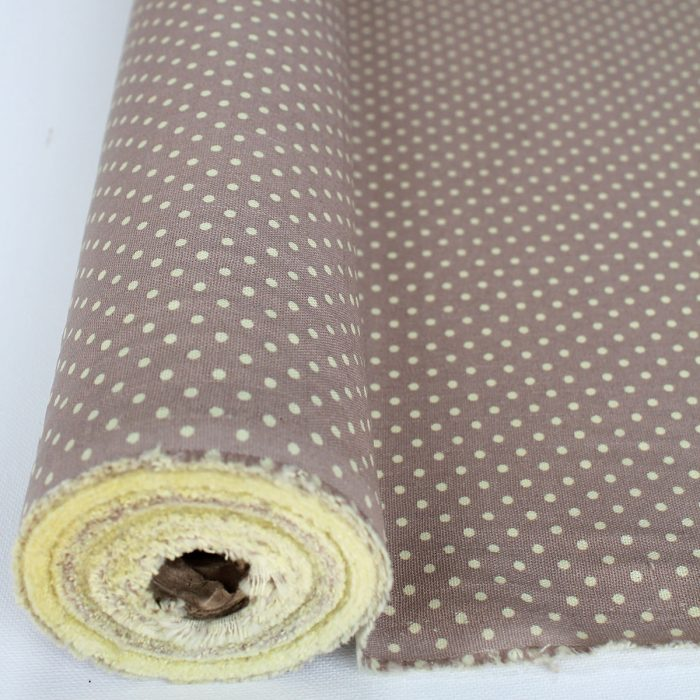 Beige spot cotton canvas