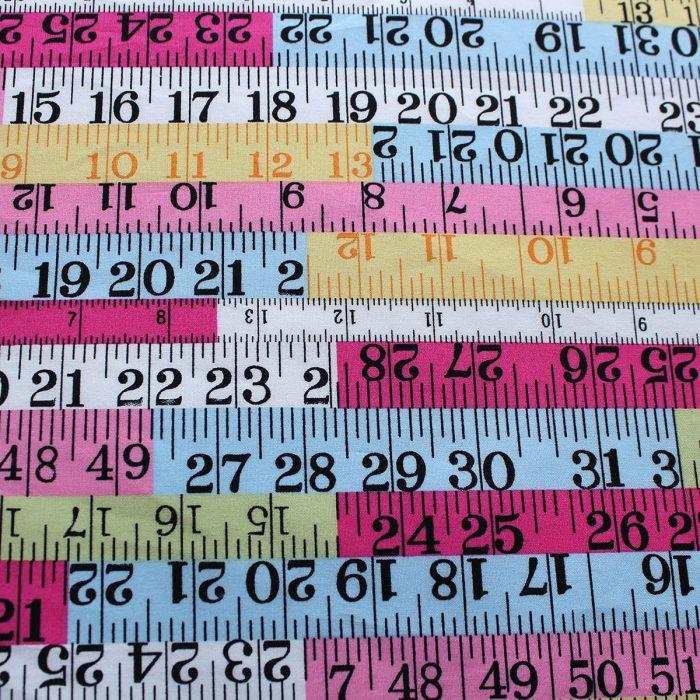 tape measure design fabric - cotton