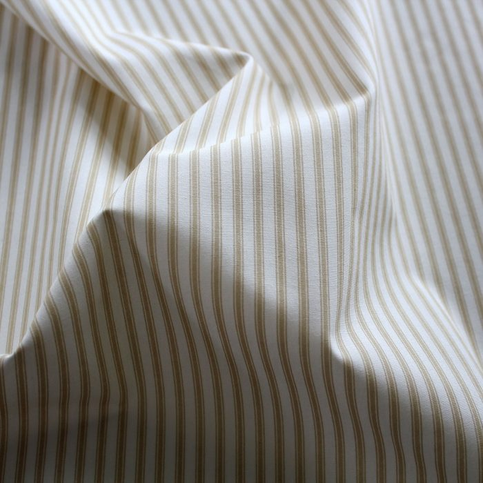 Beige ticking stripe