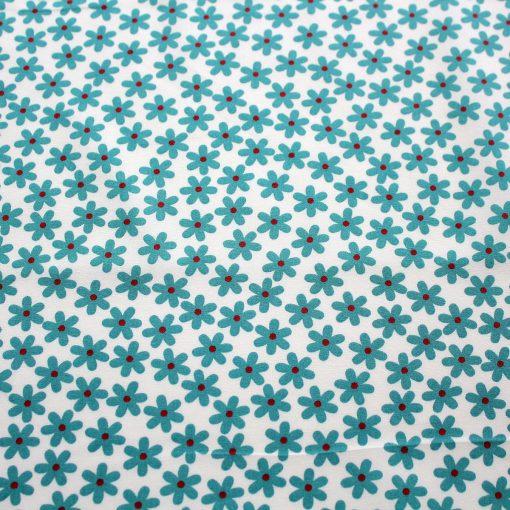 aqua blue daisy fabric