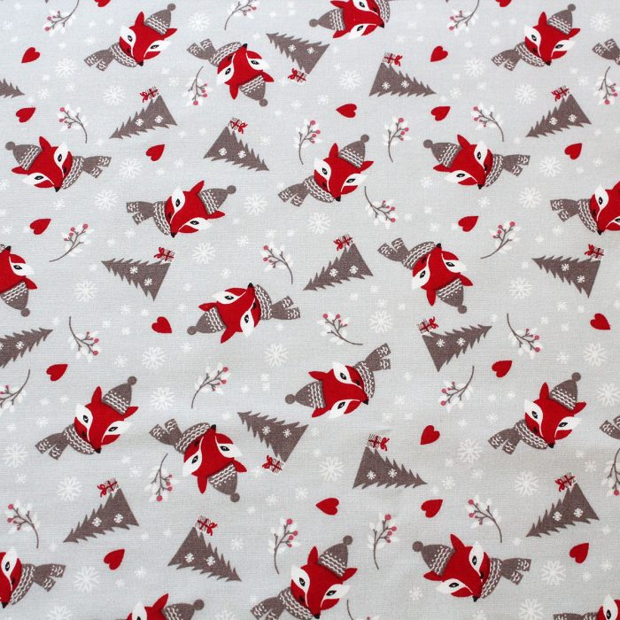 red and grey christmas fabrics - pack shot