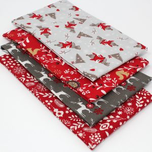 woodland christmas fat quarters