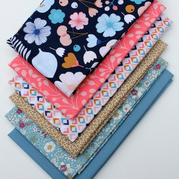 bountiful in blue - 6 fat quarters