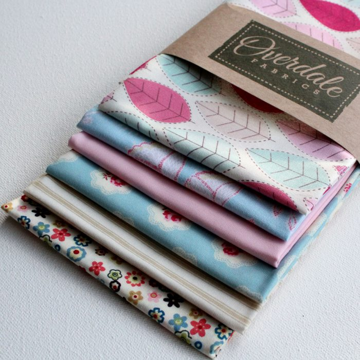 Pack of 6 fat quarters called Summer Breeze from Overdale Fabrics.