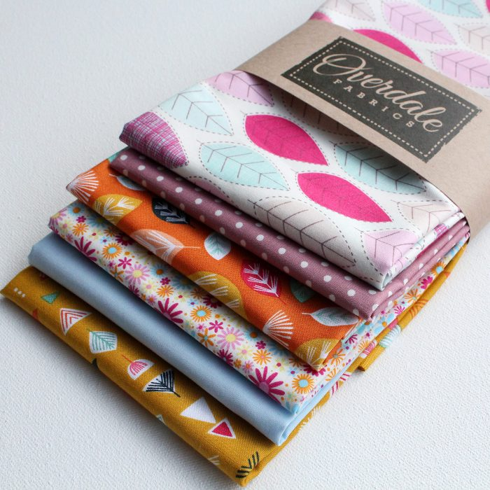 Fat quarter 6 pack of fabrics from Overdale Fabrics.