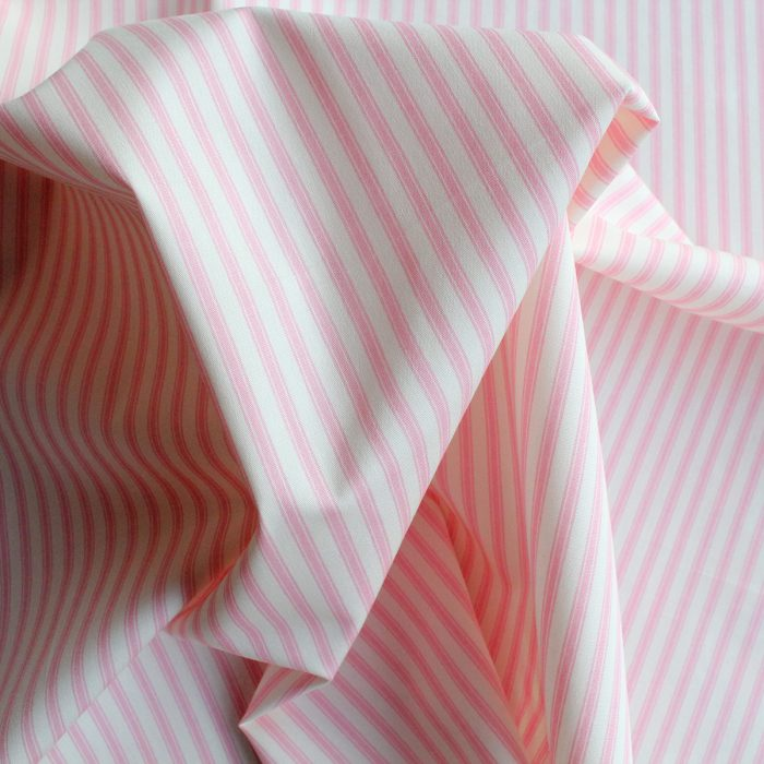 pink ticking fabric
