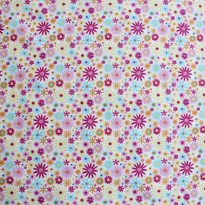 Summer floral print with small bursting flowers