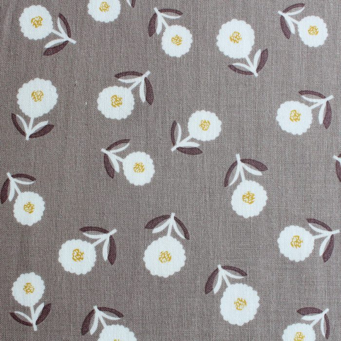 A cute flower print on beige.