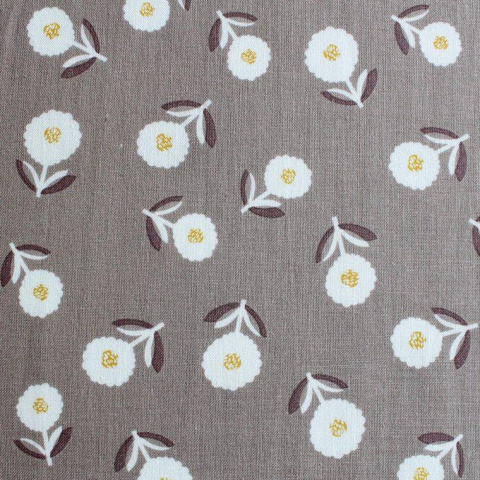 A cute flower print on beige.