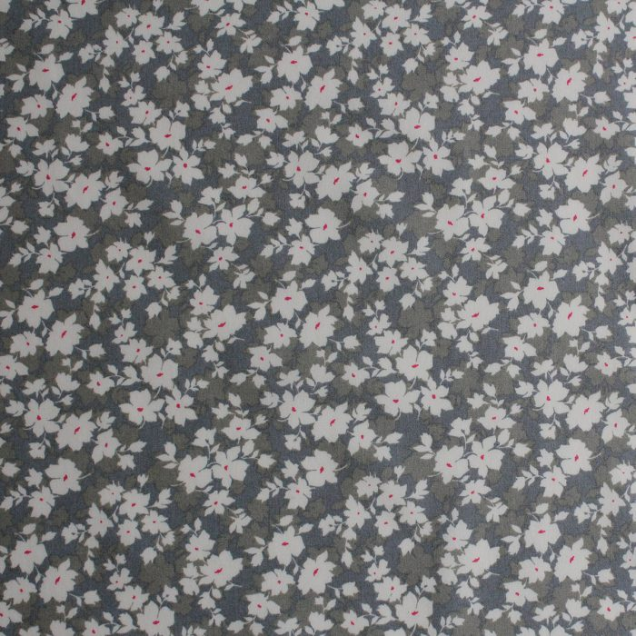 Silver grey floral print.