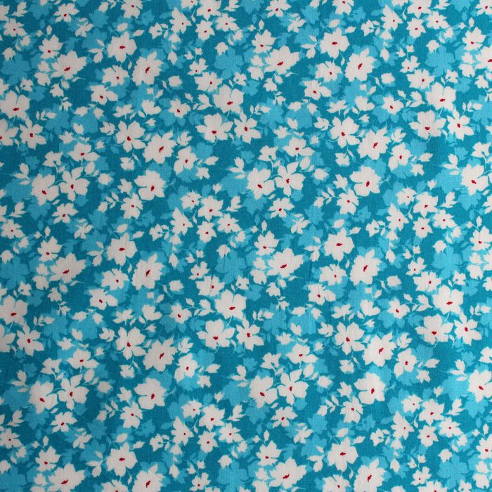 Peacock flower fields fabric design