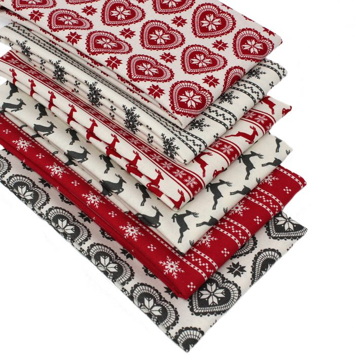 Scandi Christmas fat quarters.