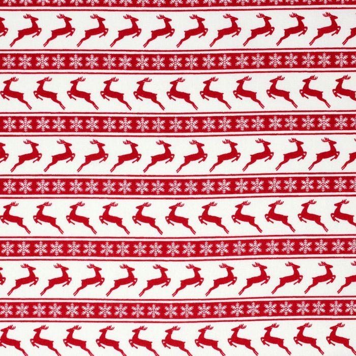 Reindeer stripe in red.