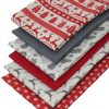 Scandi Christmas fabric in red and grey.