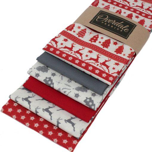 Scandi Christmas fat quarter fabrics.