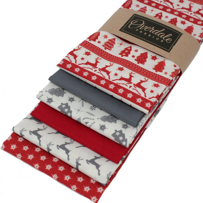 Scandi Christmas fat quarter fabrics.