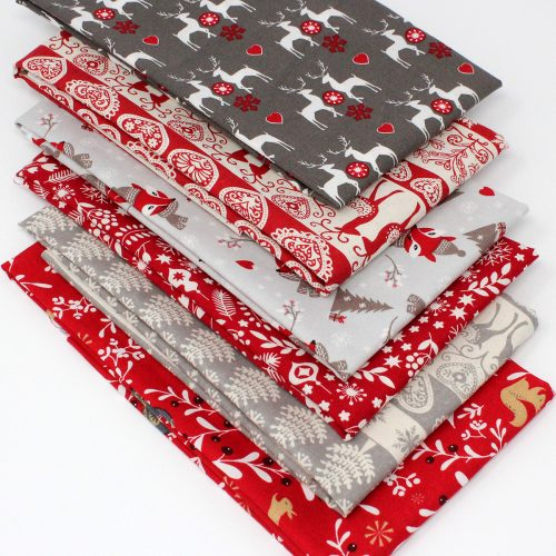scandi xmas 6 pack of fat quarters