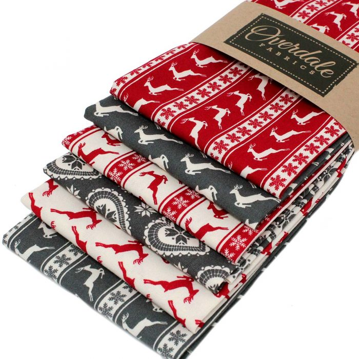Christmas fat quarter pack with a Scandi look.