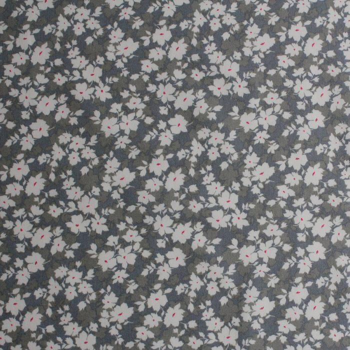 Grey leaf fabric.