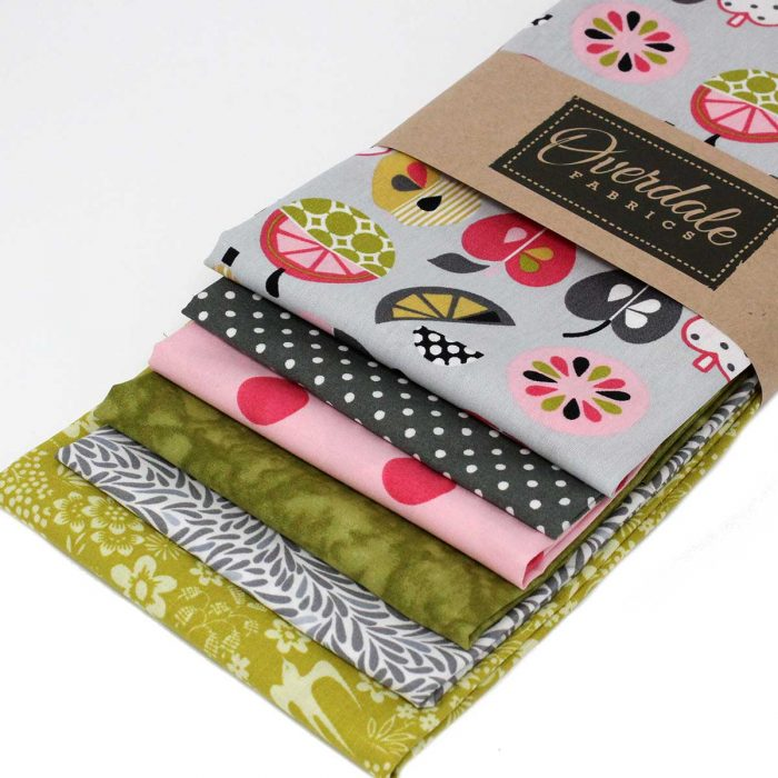 Fat quarter pack with a fruit theme.