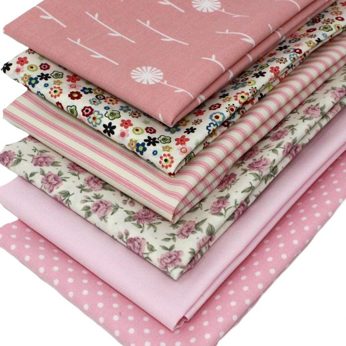 Fat quarter collection in pink.