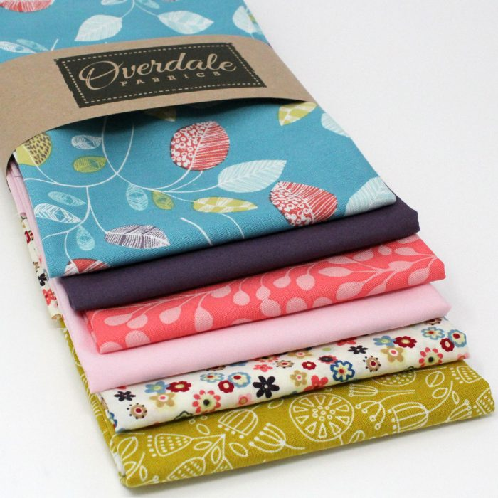 A pack of six fat quarters with a natural theme.