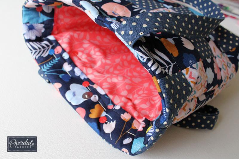 Adding lining to a hand crafted handbag.